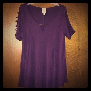 Women's short sleeve dress tunic shirt